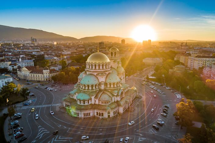 The beautiful Alexander Nevski cathedral in the setting sun (Getty Images)