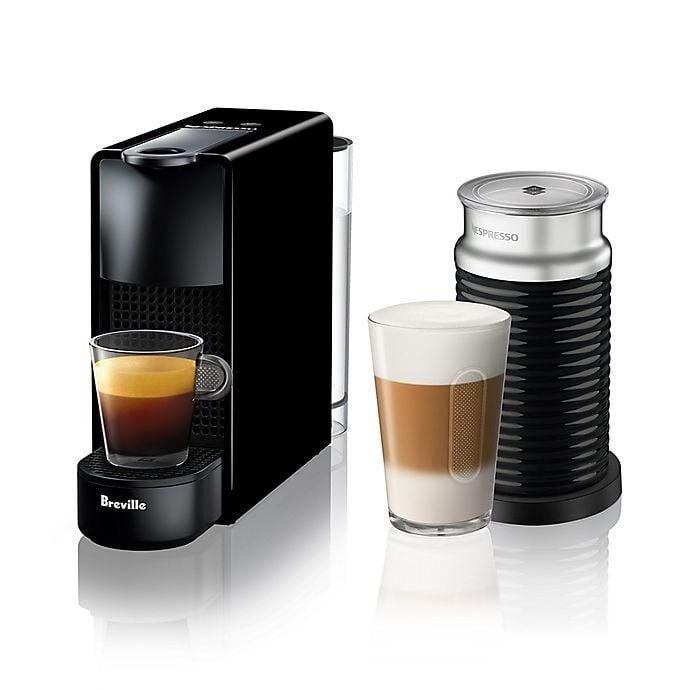 <p>The <span>Nespresso by Breville Essenza Mini Espresso Maker With Aeroccino Frother</span> ($200) is like an Italian coffee shop at home.</p>