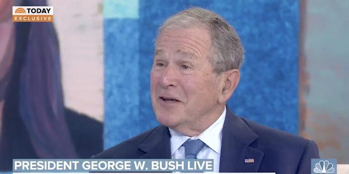 """Former President George W. Bush on """"Today"""" on Tuesday."""