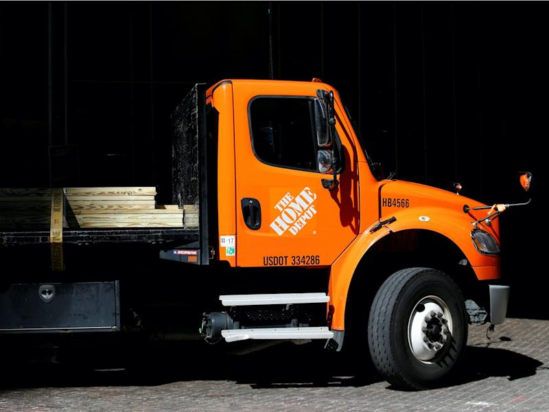 home depot delivery truck