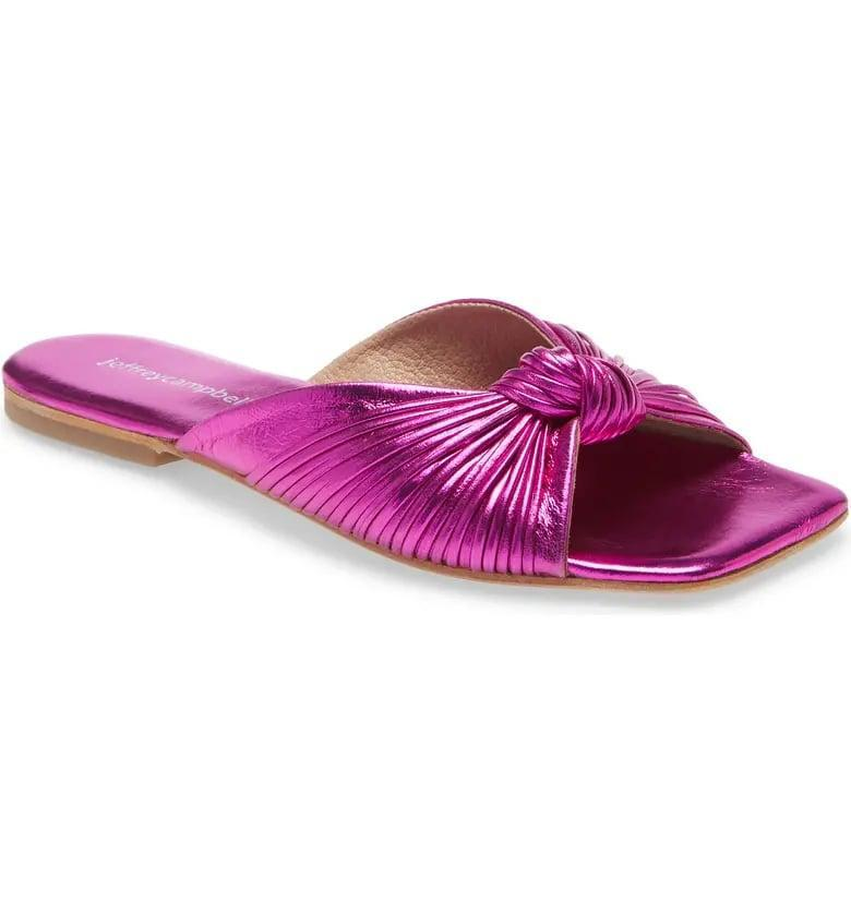 <p>Make a statement in these amazing <span>Jeffrey Campbell Knaughty Slide Sandals</span> ($85).</p>