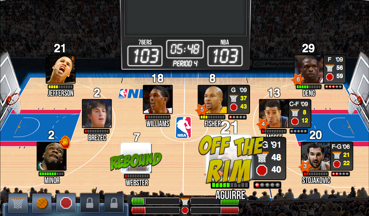 NBA Dynasty in action