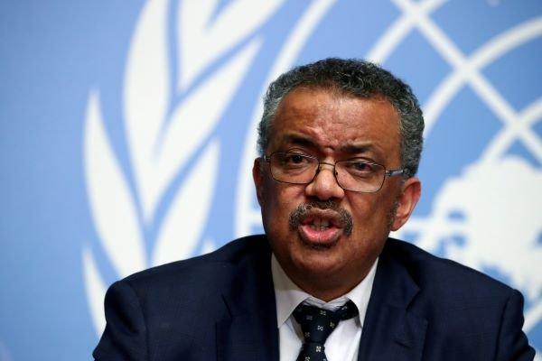 Director-General of the World Health Organization (WHO) Tedros Adhanom Ghebreyesus speaks during a news conference on the situation of the coronavirus at the United Nations, in Geneva, Switzerland, January 29, 2020. Via REUTERS/Denis Balibouse