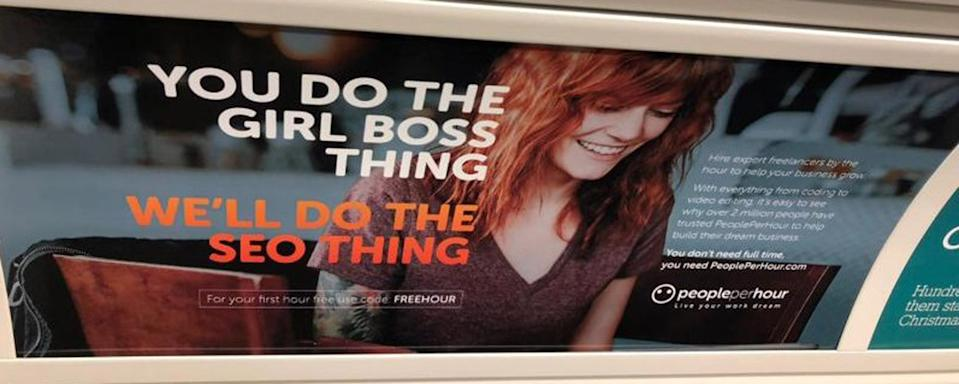 The advert for PeoplePerHour was found to have breached new rules surrounding gender stereotyping [Photo: ASA/PA]