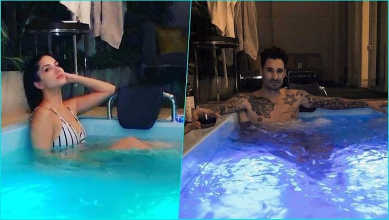 Sunny Leone and Daniel Weber Strip Down for a Cosy Time in Their Rooftop Swimming Pool (See Hot Pics)