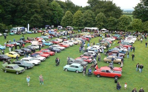 Raby Castle Classic Car event