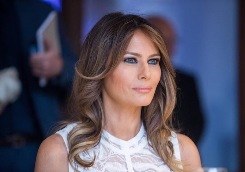 Melania Trump steals the show in white Elie Saab midi dress: Pics!