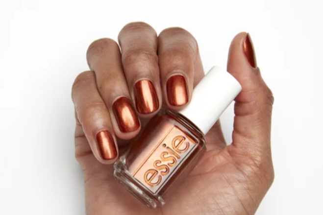 """<p><strong>BUY IT: $11.95</strong>; <a href=""""https://www.amazon.com/essie-nail-polish-trend-collection/dp/B07TYP5Y58/ref=sr_1_2?ie=UTF8&camp=1789&creative=9325&linkCode=as2&creativeASIN=B07TYP5Y58&tag=southlivin04-20&ascsubtag=d41d8cd98f00b204e9800998ecf8427e"""" target=""""_blank"""">amazon.com</a></p> <p>No fall nail polish collection is complete without a trusty burnt orange. The metallic finish on this warm shade adds an ideal festive touch.</p>"""
