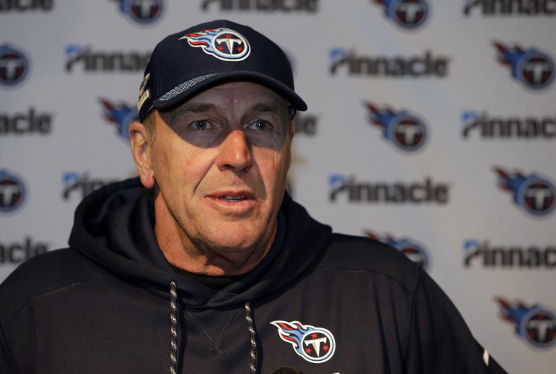 Mike Mularkey and the Titans decided to part ways. (AP)