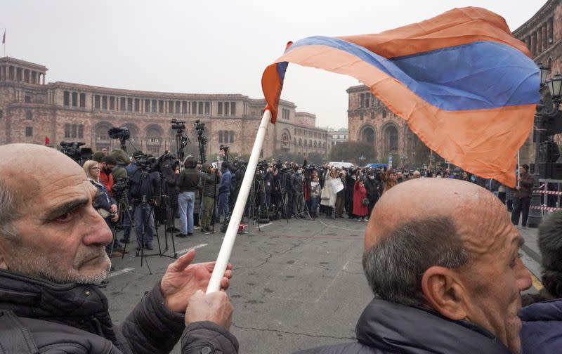Opposition rally to demand the resignation of Prime Minister Nikol Pashinyan in Yerevan