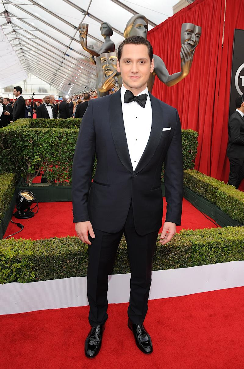LOS ANGELES, CA - JANUARY 25: Actor Matt McGorry attends the 21st Annual Screen Actors Guild Awards at The Shrine Auditorium on January 25, 2015 in Los Angeles, California. (Photo by Angela Weiss/Getty Images)