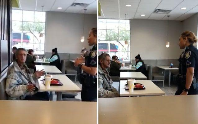 facebook office design tells. The Homeless Man Is Approached By Officer Who Tells Him He Must Leave. Source Facebook Office Design