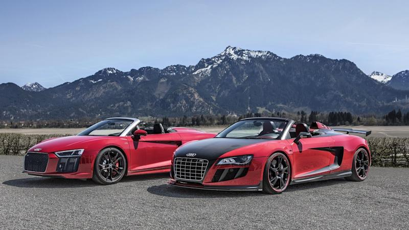 Spyder Invasion In The Alps Audi R RWS Meets The R GT S By ABT - Audi r8 gt