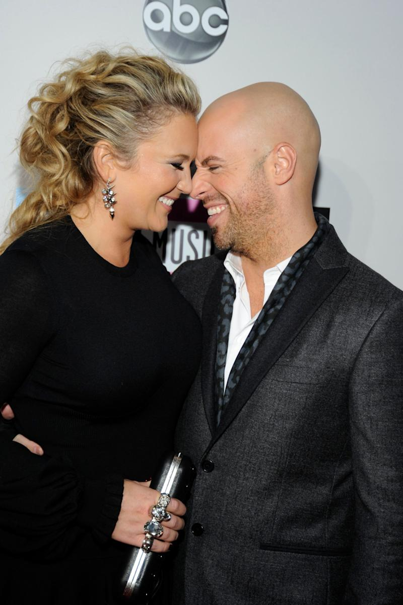 "Deanna and Chris Daughtry in 2011. They co-wrote ""As You Are,"" a ballad on the new album. (Photo: Frazer Harrison / AMA2011 / Getty Images)"