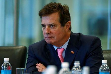 Manafort of Republican presidential nominee Trump's staff listens during a round table discussion on security at Trump Tower in the Manhattan borough of New York
