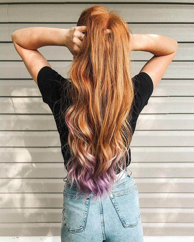 "<p>Don't feel like going all out with your lavender <a href=""https://www.cosmopolitan.com/style-beauty/g9916693/best-summer-hair-colors/"" rel=""nofollow noopener"" target=""_blank"" data-ylk=""slk:hair color"" class=""link rapid-noclick-resp"">hair color</a>? <strong>Go for something subtle</strong>, like these soft lavender ends, before you fully commit to all-over color. </p><p><a href=""https://www.instagram.com/p/CBbqJyIHUd4/"" rel=""nofollow noopener"" target=""_blank"" data-ylk=""slk:See the original post on Instagram"" class=""link rapid-noclick-resp"">See the original post on Instagram</a></p>"