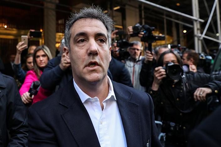 <p>Michael Cohen said after knowing Donald Trump for over a decade he concluded the former president might have already pardoned himself</p> (Reuters)
