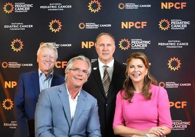 Image courtesy of Jon Carrasco. Left to Right: Gary Lawson (Board Member of My Medical Images), John D. Hodgeman (Board Member of My Medical Images), David Frazer (CEO of National Pediatric Cancer Foundation), and Kathy Ireland (Chair, CEO and Chief Designer of kathy ireland Worldwide).