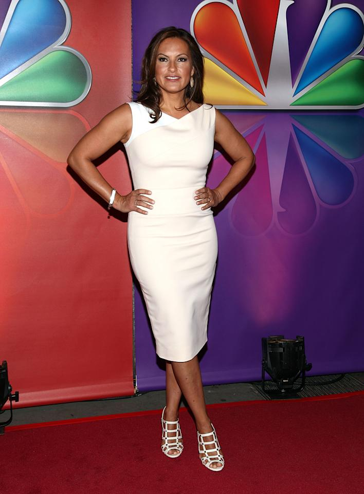 "Mariska Hargitay (""Law & Order: SVU"") attends NBC's 2012 Upfront Presentation at 51st Street on May 14, 2012 in New York City."