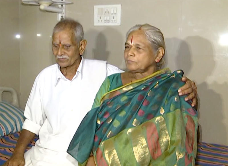 Mangayamma Yaramati, 74, has become the oldest mother in the world after giving birth to twin girls .(CATERS)