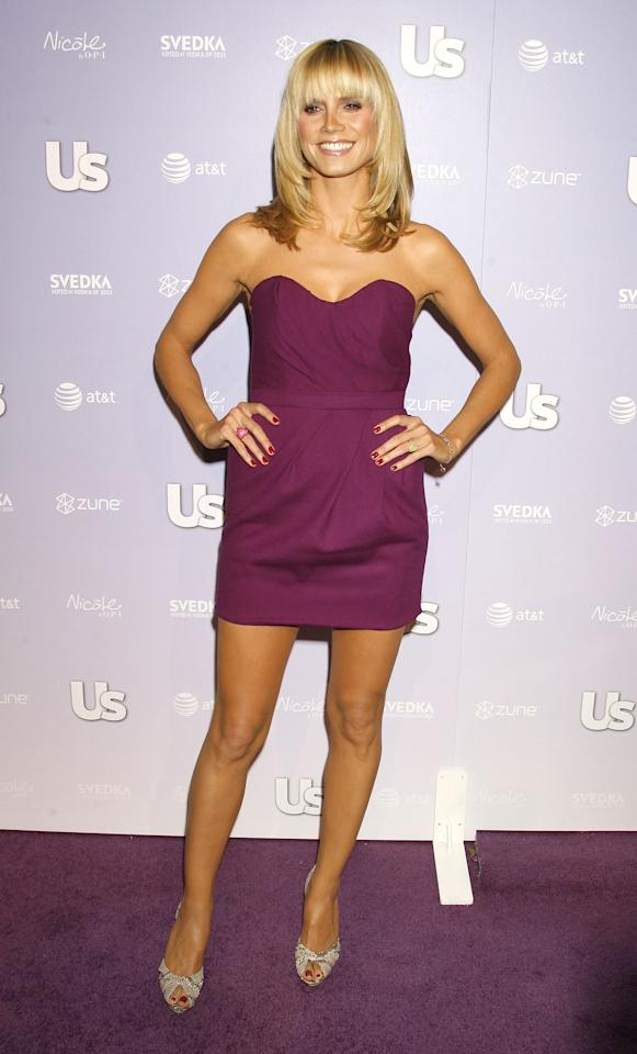 LOS ANGELES, CA. - APRIL 17:  Model/TV personality Heidi Klum arrives at the US Weekly Hot Hollywood 2008 on April 17, 2008 at Beso Restaurant in Los Angeles, California. (Photo by Jeffrey Mayer/WireImage)