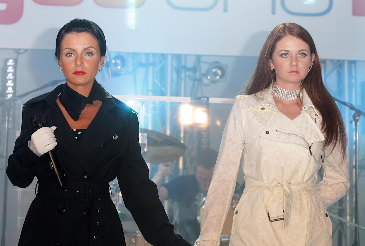 CANNES, FRANCE - MAY 16:  Singers Lena Katina and Julia Volkova (R) of Russian pop group t.A.T.u perforn at the You and I Party at the Majestic Beach, during the 61st International Cannes Film Festival on May 16 , 2008 in Cannes, France.  (Photo by Francois Durand/Getty Images)