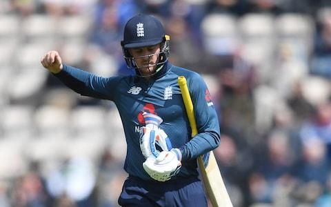 Jason Roy walks off after being dismissed during the second One Day International between England and Pakistan  - Credit: Getty images