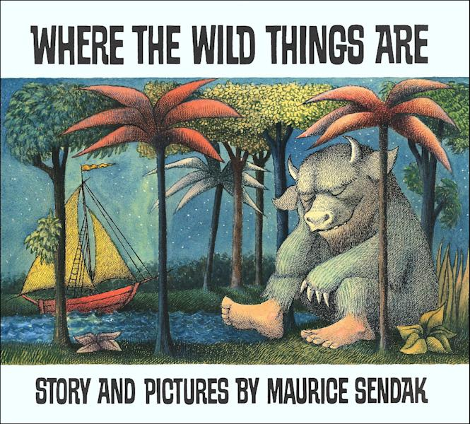"""This image provided by HarperCollins shows the book cover of """"Where the Wild Things Are,"""" by Maurice Sendak. Sendak died Tuesday, May 8, 2012 at Danbury Hospital in Danbury, Conn. He was 83. (AP Photo/HarperCollins)"""
