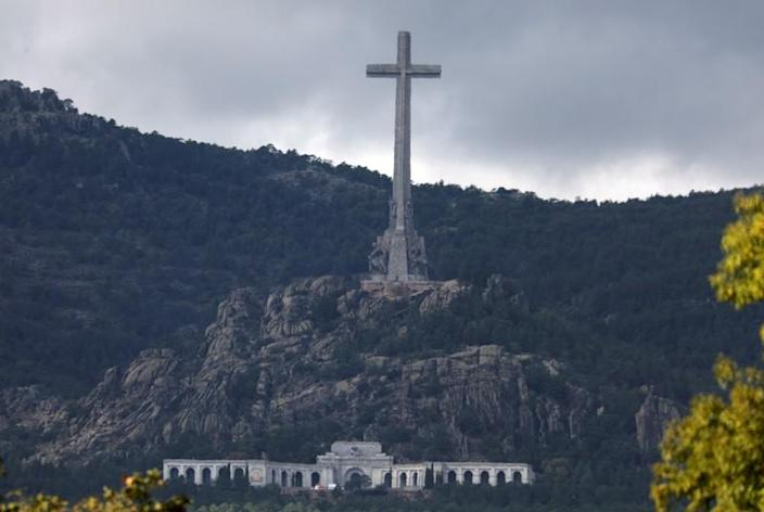 The Valle de los Caidos (The Valley of the Fallen) is seen in this picture taken from Collado VIllalba
