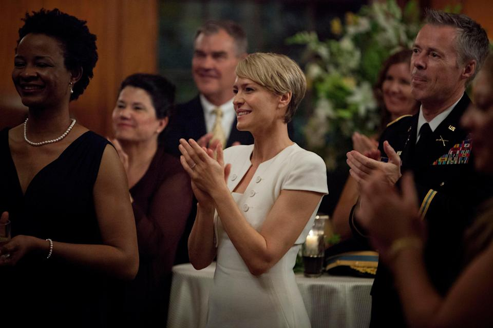 As Claire Underwood in House Of Cards