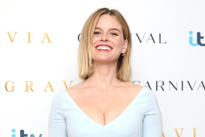 Alice Eve: joy even under seven petticoats (Photo by Lia Toby/Getty Images) (Getty Images)