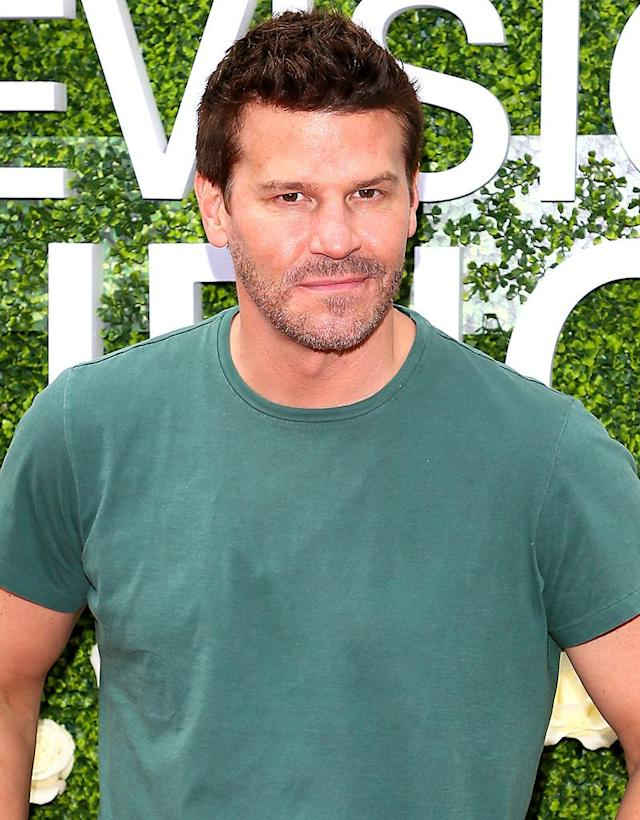 "<p>After an extortion attempt, the <i>Bones</i> actor and his wife of nine years were forced to go public about his infidelities and their private battle to save their marriage. Boreanaz told <i>People</i> a woman he had a relationship with ""<a href=""http://people.com/archive/bones-david-boreanaz-yes-i-cheated-vol-73-no-19/"" rel=""nofollow noopener"" target=""_blank"" data-ylk=""slk:was asking for six figures"" class=""link rapid-noclick-resp"">was asking for six figures</a> and would go to the media if we didn't pay. I felt threatened."" The actor's wife, Jamie Bergman, added, ""She believes David loved her. … She feels entitled to something. … It's not going to work with us."" (Photo: JB Lacroix/ WireImage) </p>"