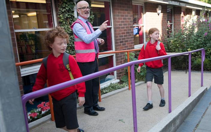 Reception pupils, as well as those in years one and six, returned to many primary schools on Monday - David Rose