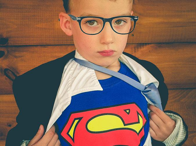 """<h2>3. Superman</h2> <p>Does your little guy own a pair of superhero pajamas? Put'em on underneath his <span class=""""aBn""""><span class=""""aQJ"""">Sunday</span> best and there you have it</span>—a superhero in disguise.</p>"""