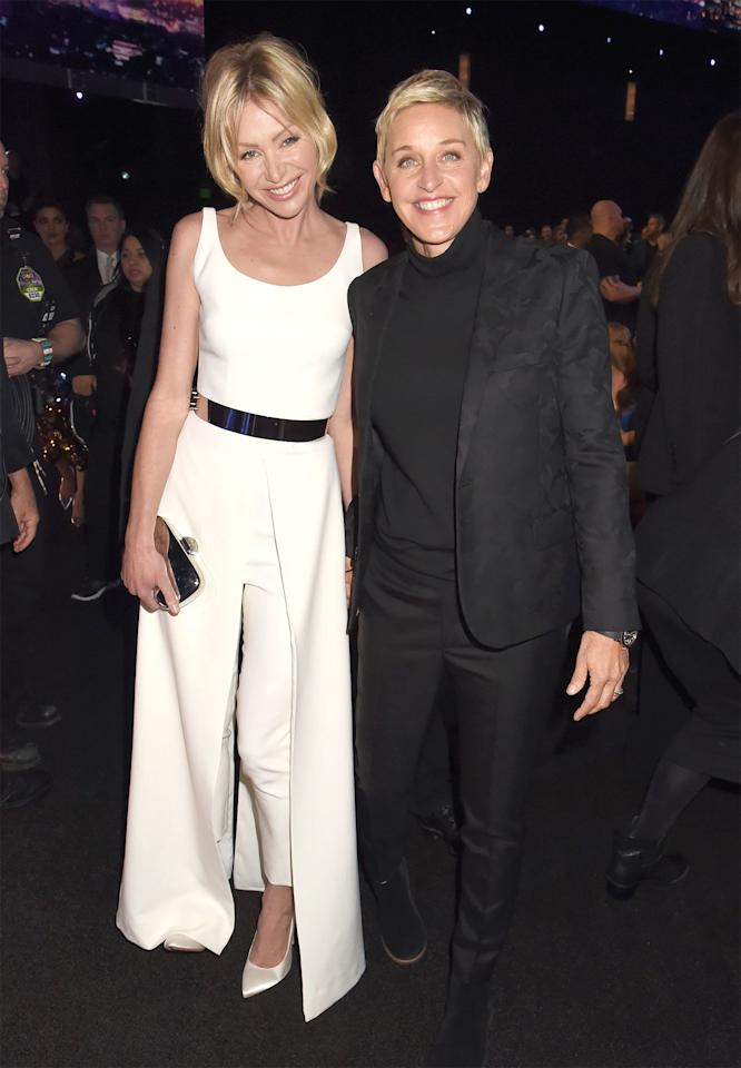 """The spouses of more than 10 years are happy to remain a party of two.""""I think I would [like to have kids]. But that's not enough to have kids. I love kids. But that's such a big commitment,"""" DeGeneres said on the<em><a href=""""https://www.today.com/popculture/ellen-degeneres-whether-or-not-she-wants-kids-i-think-t9231"""">TODAY</a> </em>show<em></em>in 2015. """"And it seems long-term. It seems like a commitment that you have to stick with. And I just don't know if I can — it's too risky. Like, what if I don't like the kid? What if it turns out that it's not as cute as I wanted, or as talented? I'm going to compare it to all these kids that I have on the show that are so smart and so funny.""""  De Rossi has also opened up about why children don't fit into their life plan.""""There comes some pressure in your mid-30s, and you think, 'Am I going to have kids so I don't miss out on something that other people really seem to love? Or is it that I really genuinely want to do this with my whole heart?' I didn't feel that my response was 'yes' to the latter,"""" <a href=""""https://www.out.com/entertainment/television/2013/04/11/portia-de-rossi?page=0,0"""">she told <em>Out</em>in 2013</a>. """"You have to really want to have kids, and neither of us did. So it's just going to be me and Ellen and no babies — but we're the best of friends and married life is blissful, it really is. I've never been happier than I am right now."""""""