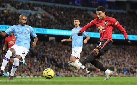 <span>Lingard goes close during an impressive start for United</span> <span>Credit: Getty Images </span>