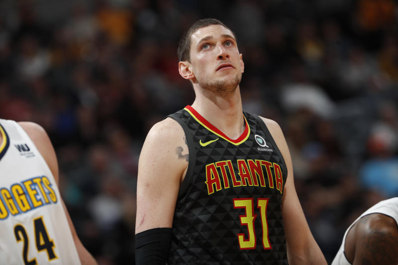 8f91c2f3d Atlanta Hawks forward Mike Muscala (31) in the second half of an NBA  basketball game Wednesday