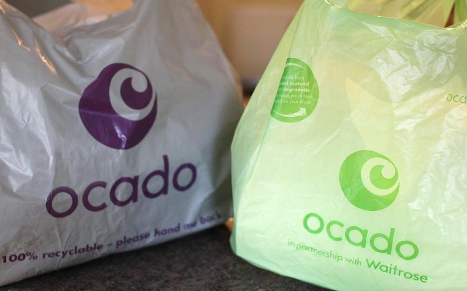 Bags from the home delivery company Ocado (PA Archive)