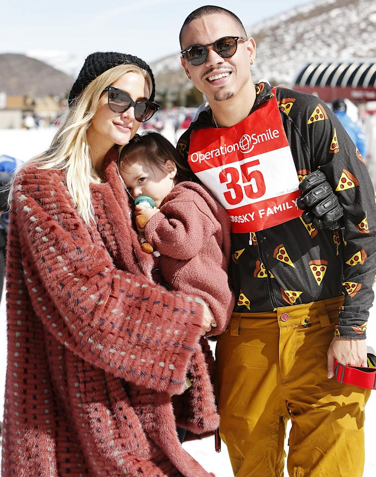 Also at the snow-filled event, Ashlee Simpson, Evan Ross (who flew via JetLux) and their daughter Jagger Snow, 20 months, hit the slopes.