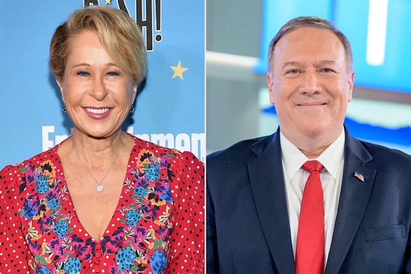 From left: Yeardley Smith and Secretary of State Mike Pompeo | Matt Winkelmeyer/Getty; Roy Rochlin/Getty