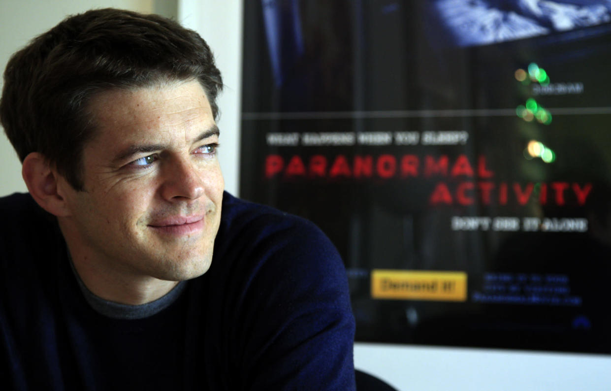 Jason Blum is photographed in his offices on the Paramount lot set on October 27, 2011. He is producer of the