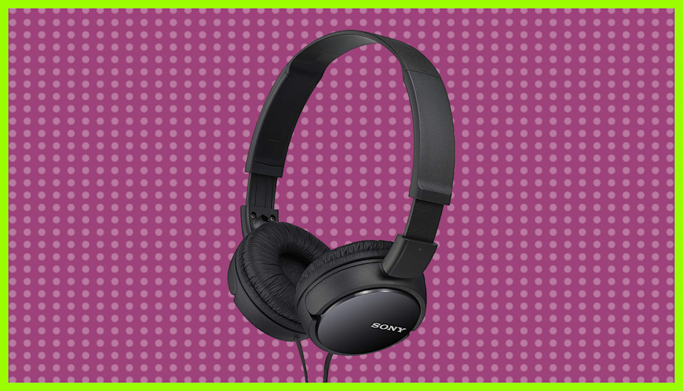Save half on these Sony MDRZX110/BLK ZX Series Stereo Headphones. (Photo: Sony)