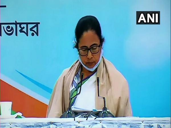 West Bengal Chief Minister Mamata Banerjee addressing a press conference on Monday