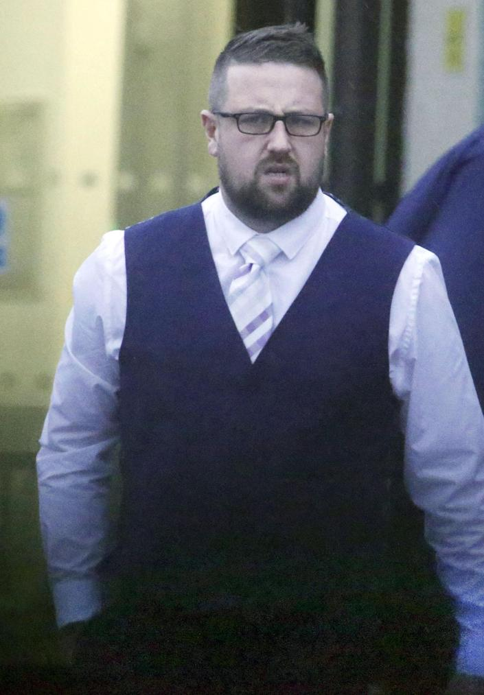 Tomos Rhydian Wilson outside Aberystwyth Court in December 2019. (SWNS)