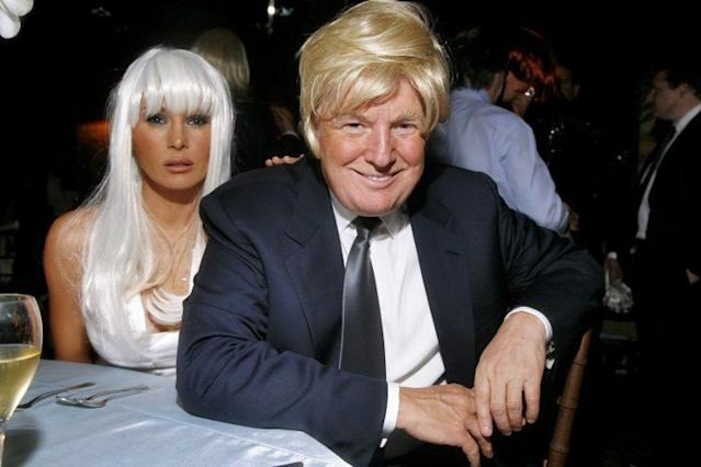 Trump at a wig-themed party in 2007. (Photo: Getty Images)