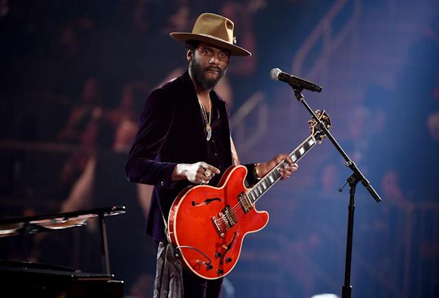 <p>Gary Clark Jr. performs onstage during the 60th Annual Grammy Awards on January 28, 2018, at Madison Square Garden in New York City. (Photo: Getty Images) </p>