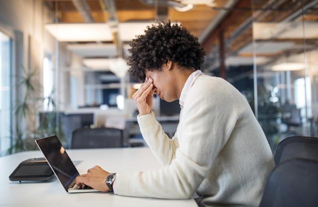 Stress is now thought to be behind almost half the number of working days lost in the UK due to health issues, according to a report. (Getty)