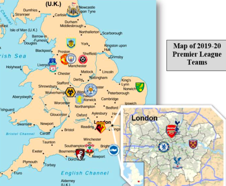 Where Are All 20 Premier League Teams Located