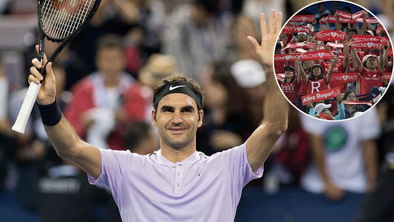 Federer has been in fine form in China. Pic: Getty