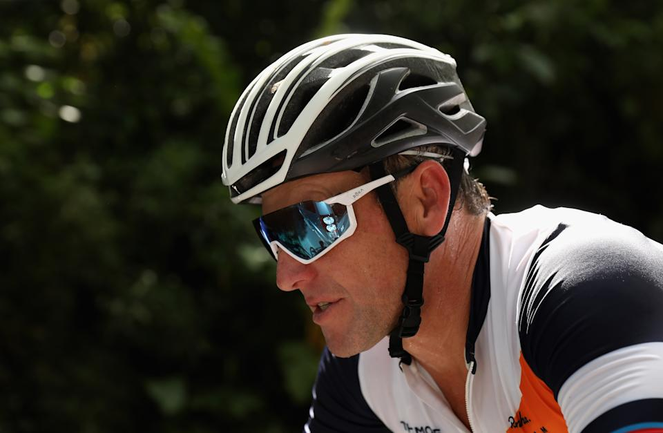 Lance Armstrong is still talking. (Photo by Ezra Shaw/Getty Images)